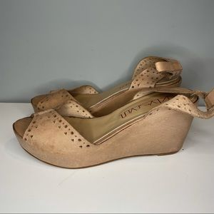 SixtySeven Women's Wedge Sandals Brown Leather